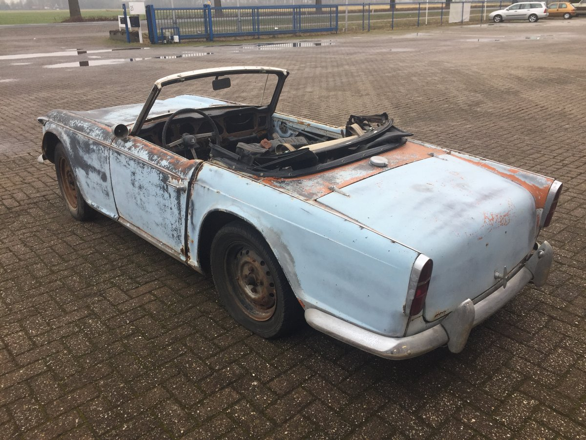 1967 Triumph TR4A for restoration   LHD solid axle model SOLD (picture 4 of 6)