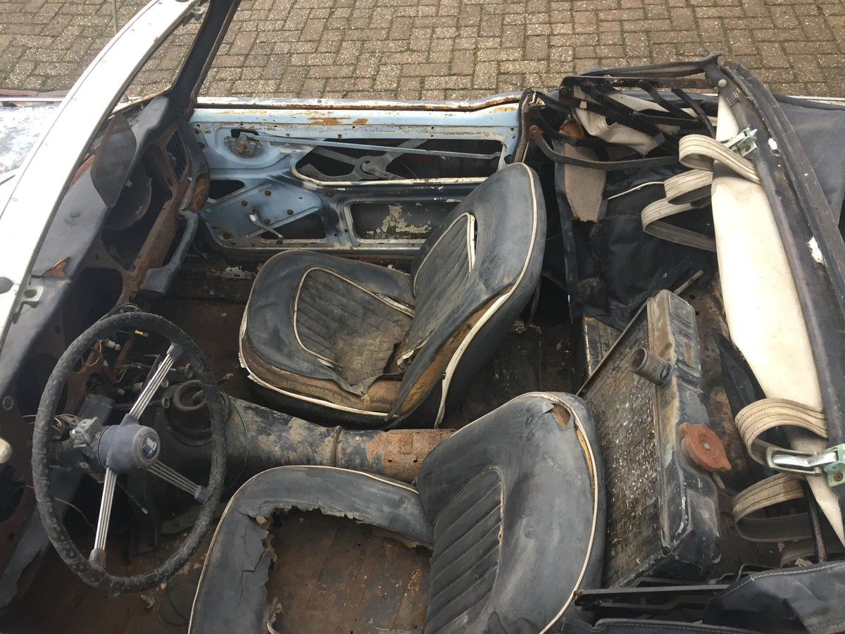 1967 Triumph TR4A for restoration   LHD solid axle model SOLD (picture 5 of 6)