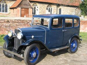 1932 Triumph Super Nine Saloon delightful original example SOLD
