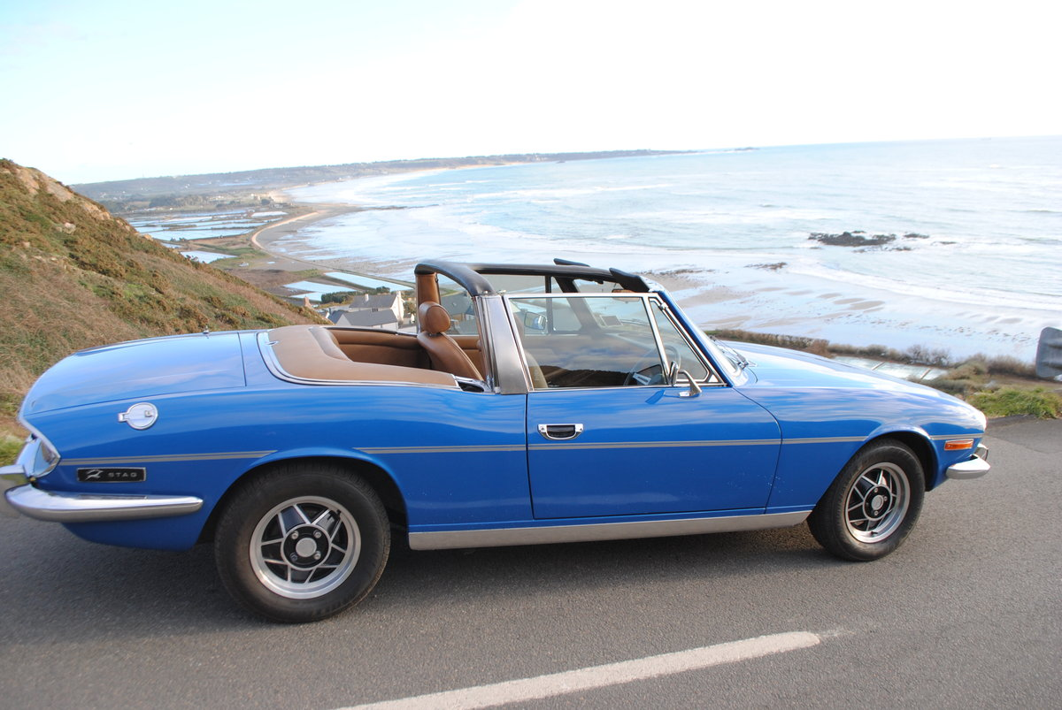 1975 Triumph Stag from Jersey Classic Hire.com For Hire (picture 2 of 6)