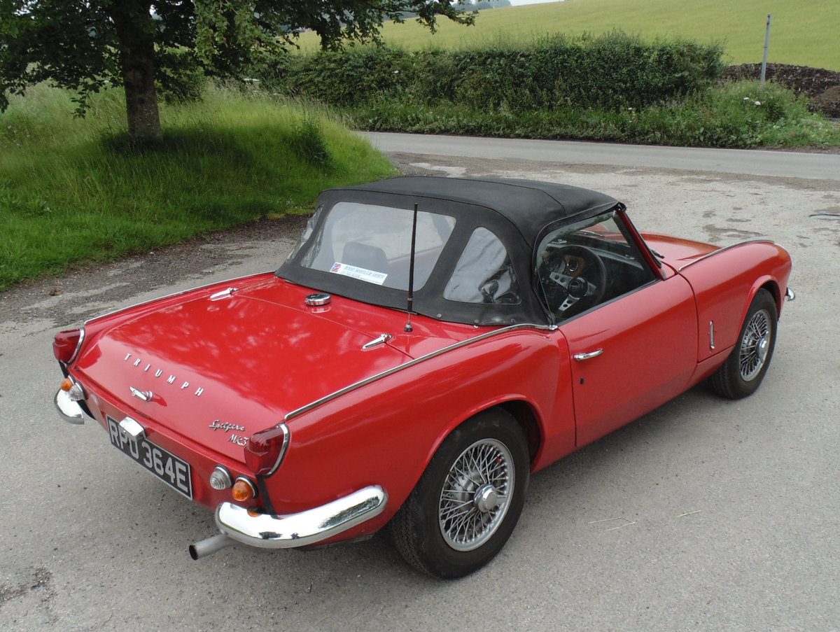 1967 Triumph Spitfire Mk3 SOLD (picture 3 of 6)