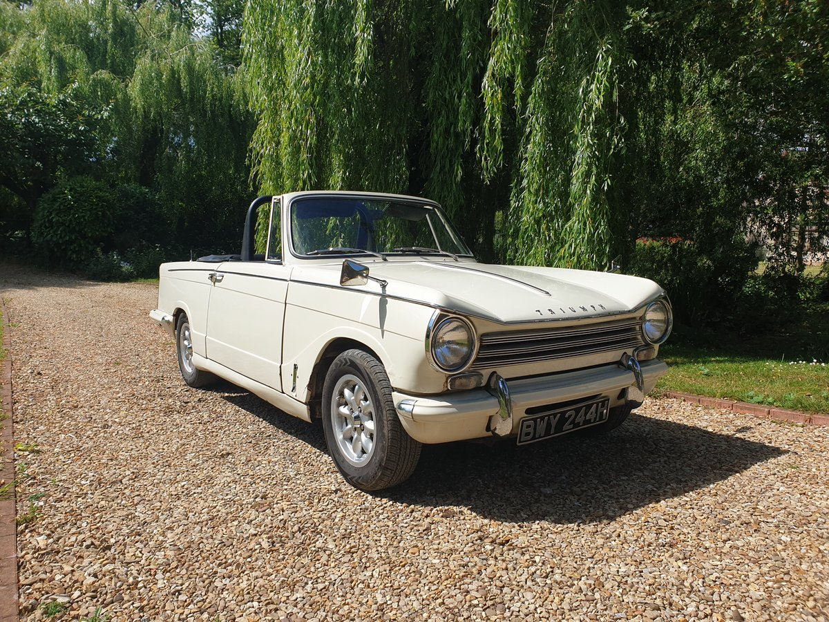 1969 Triumph Herald 13/60 Convertible SOLD (picture 1 of 6)