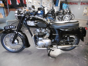 1959 Triumph Speed Twin 5TA. Very original all correct