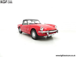 1968 A Classic Triumph Spitfire Mk3 with a Large History File SOLD
