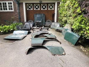 1663 Triumph TR4 British Racing Green Roadster Project For Sale