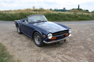 1972 TRIUMPH TR6 ORIGINAL 150BHP UK CAR IN BLUE SOLD