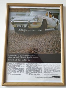 Original 1968 Triumph Spitfire Advert