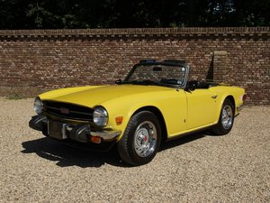 Triumph TR6 matching numbers Mimosa yellow