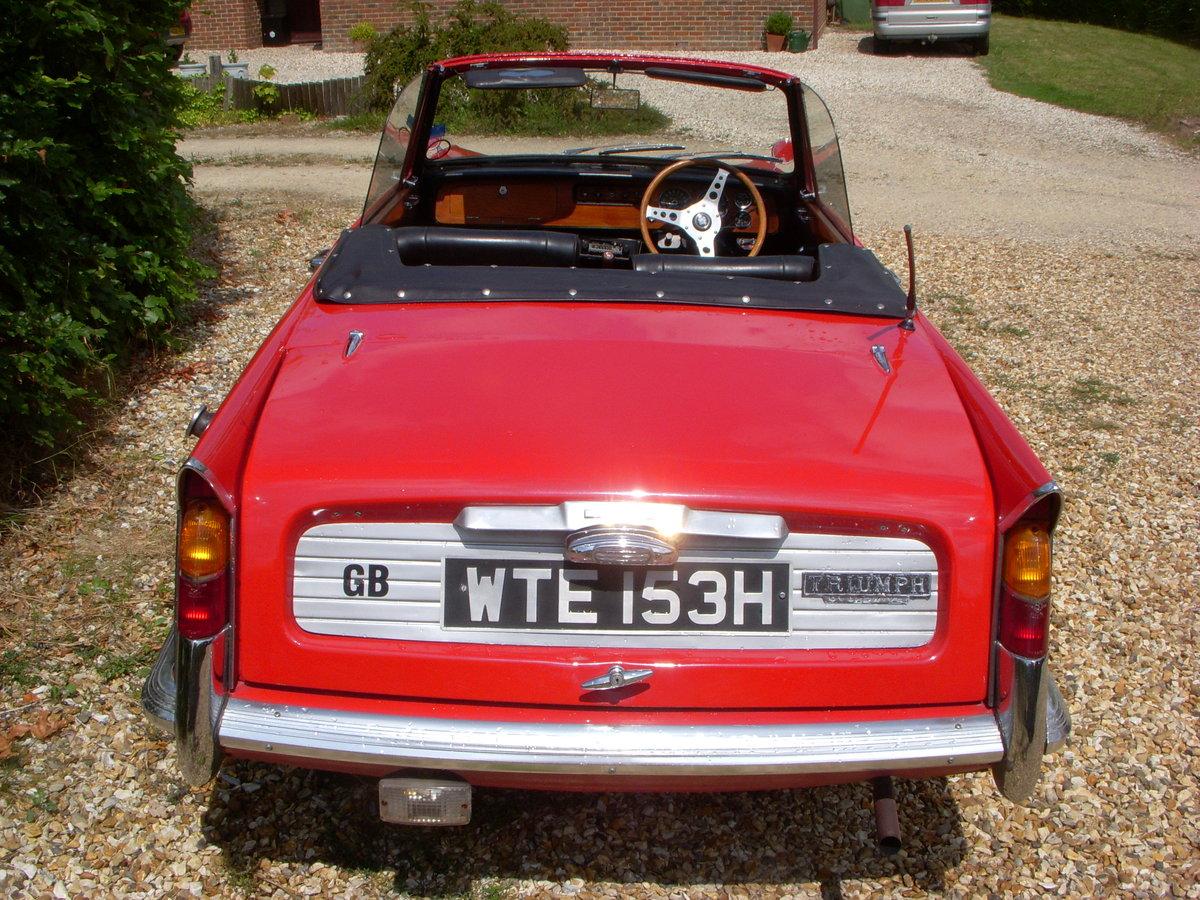 1969 Triumph Vitesse 2 Litre Mark II Convertible  For Sale (picture 3 of 3)