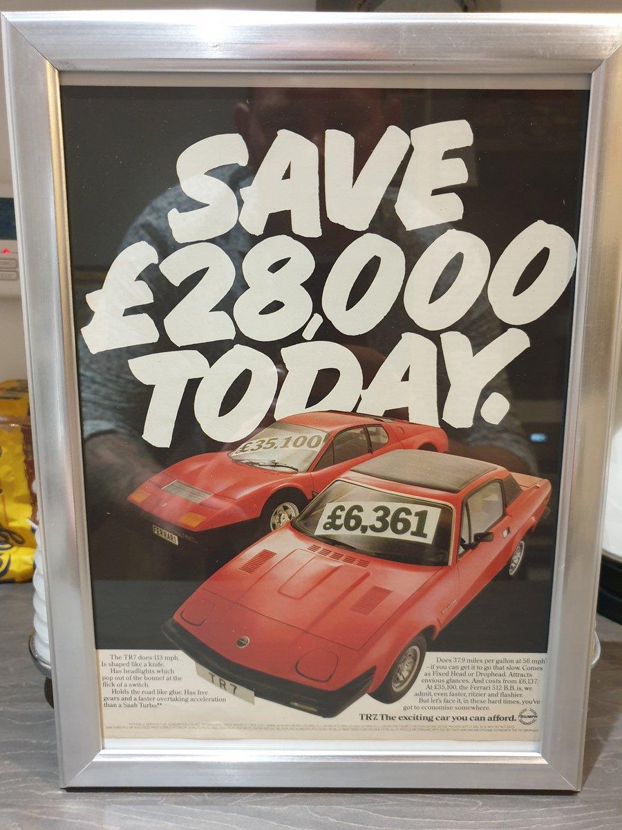 1980 Triumph TR7 Advert Original  For Sale (picture 1 of 2)