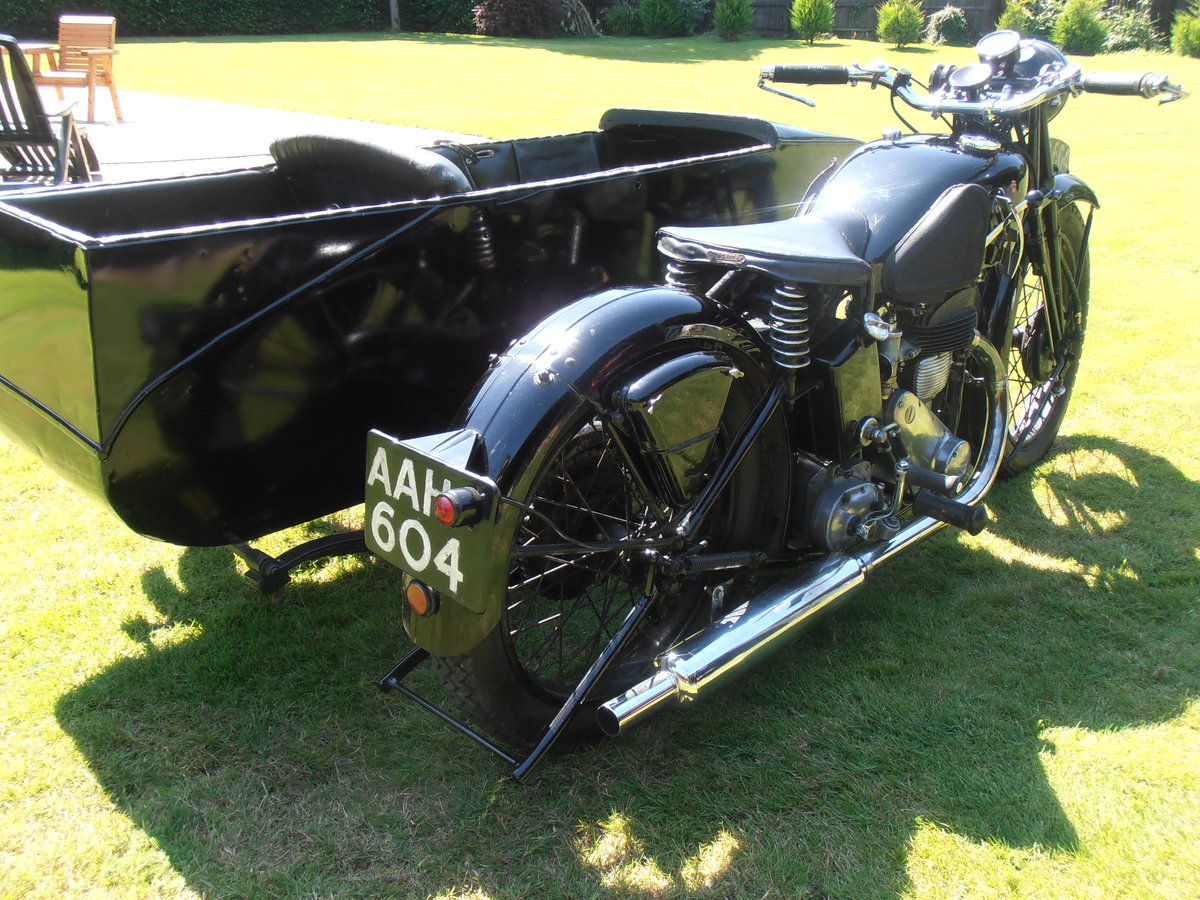 1935 Triumph model 5/1 & sidecar,original,east coast uk For Sale (picture 4 of 6)