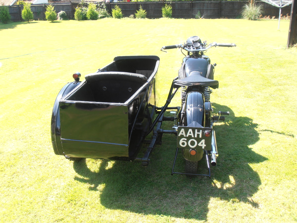 1935 Triumph model 5/1 & sidecar,original,east coast uk For Sale (picture 3 of 6)