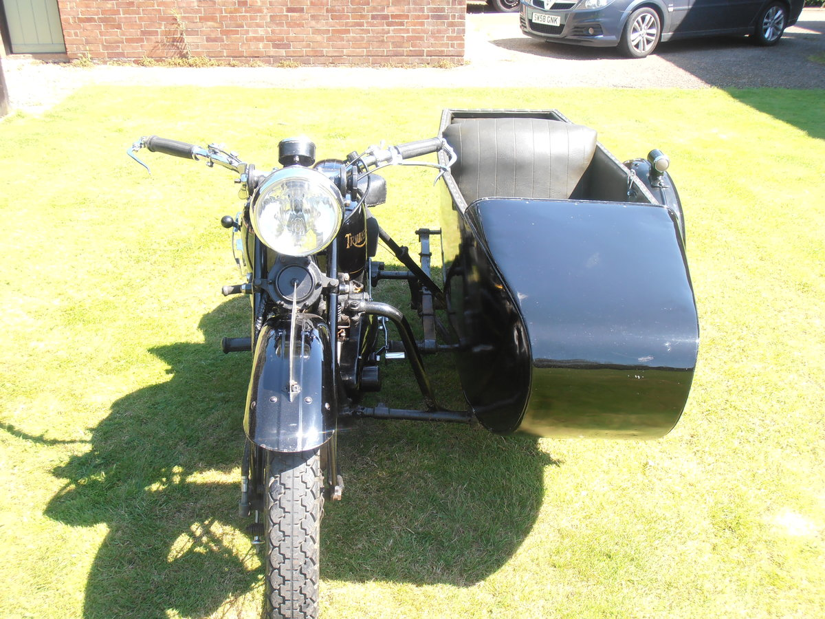 1935 Triumph model 5/1 & sidecar,original,east coast uk For Sale (picture 2 of 6)