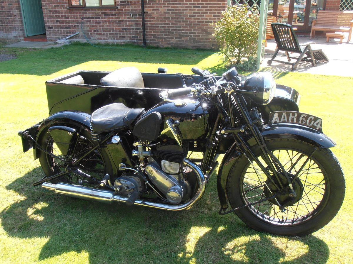 1935 Triumph model 5/1 & sidecar,original,east coast uk For Sale (picture 1 of 6)