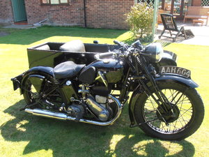 1935 Triumph pre war model 5/1 & sidecar,original,