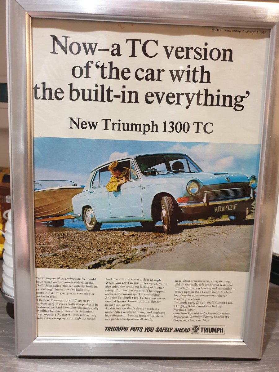 1967 Triumph 1300 TC advert Original  SOLD (picture 1 of 2)