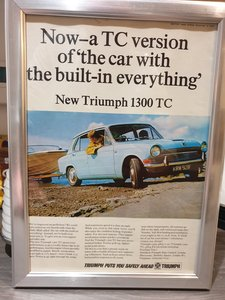 1967 Triumph 1300 TC advert Original