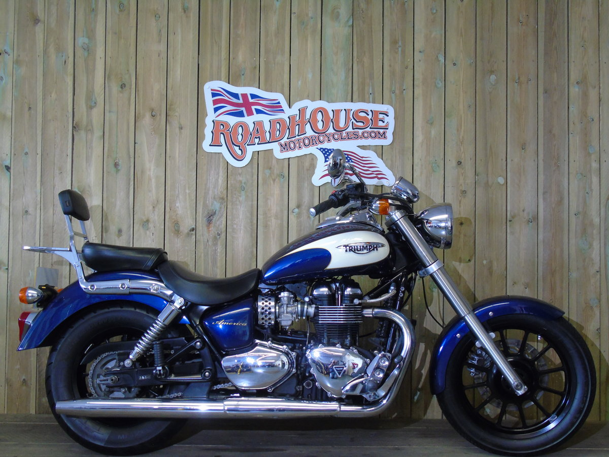 2011 Triumph Bonneville America Only 1100 Miles Service History For Sale (picture 1 of 6)