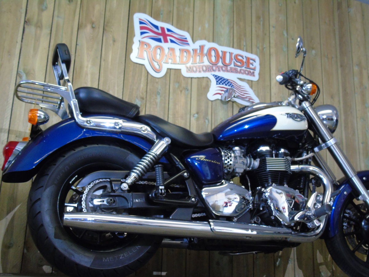 2011 Triumph Bonneville America Only 1100 Miles Service History For Sale (picture 6 of 6)