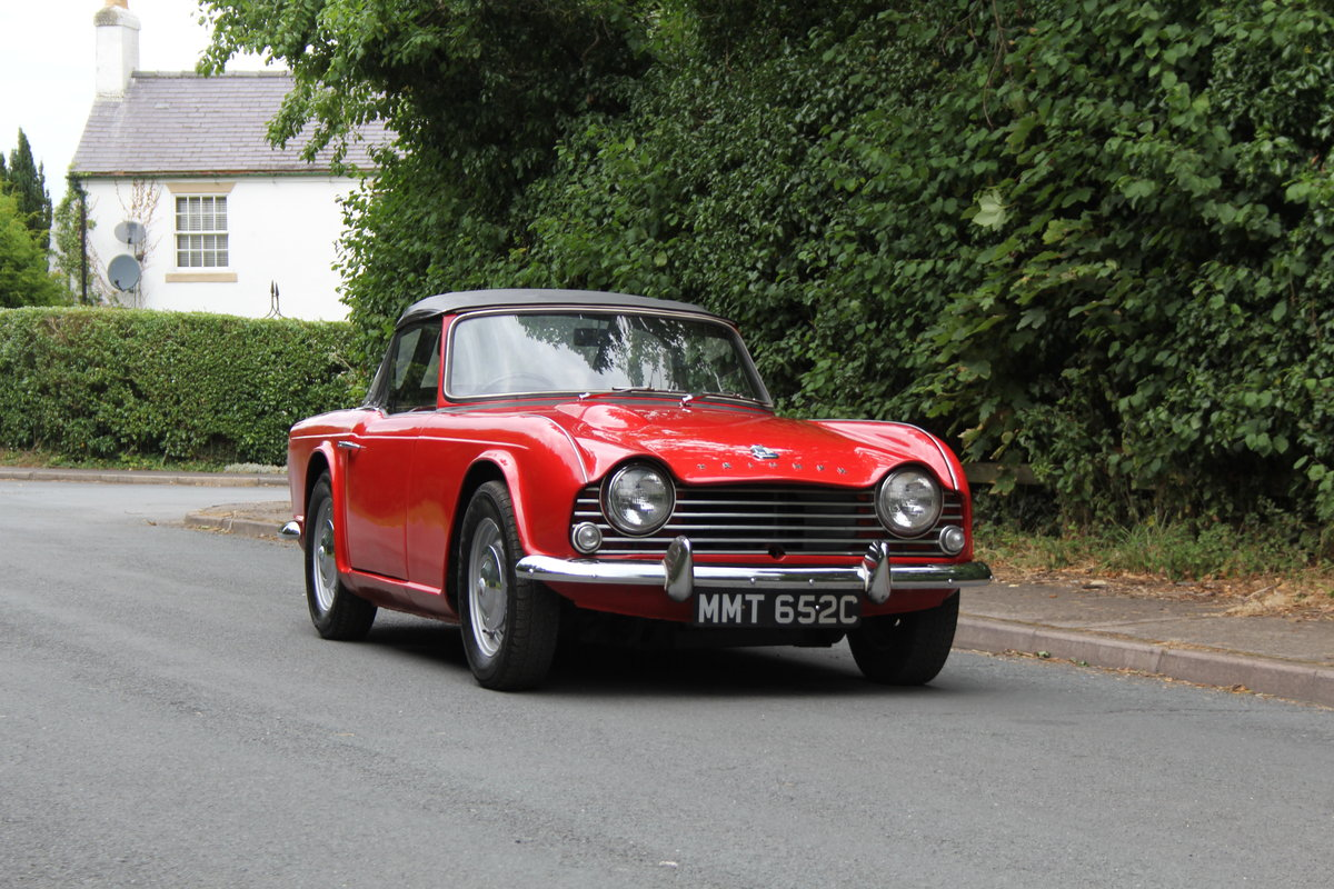 1965 Triumph TR 4 - UK car, O/D, Performance engine  SOLD (picture 1 of 20)