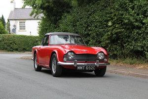 1965 Triumph TR 4 - UK car, O/D, Performance engine