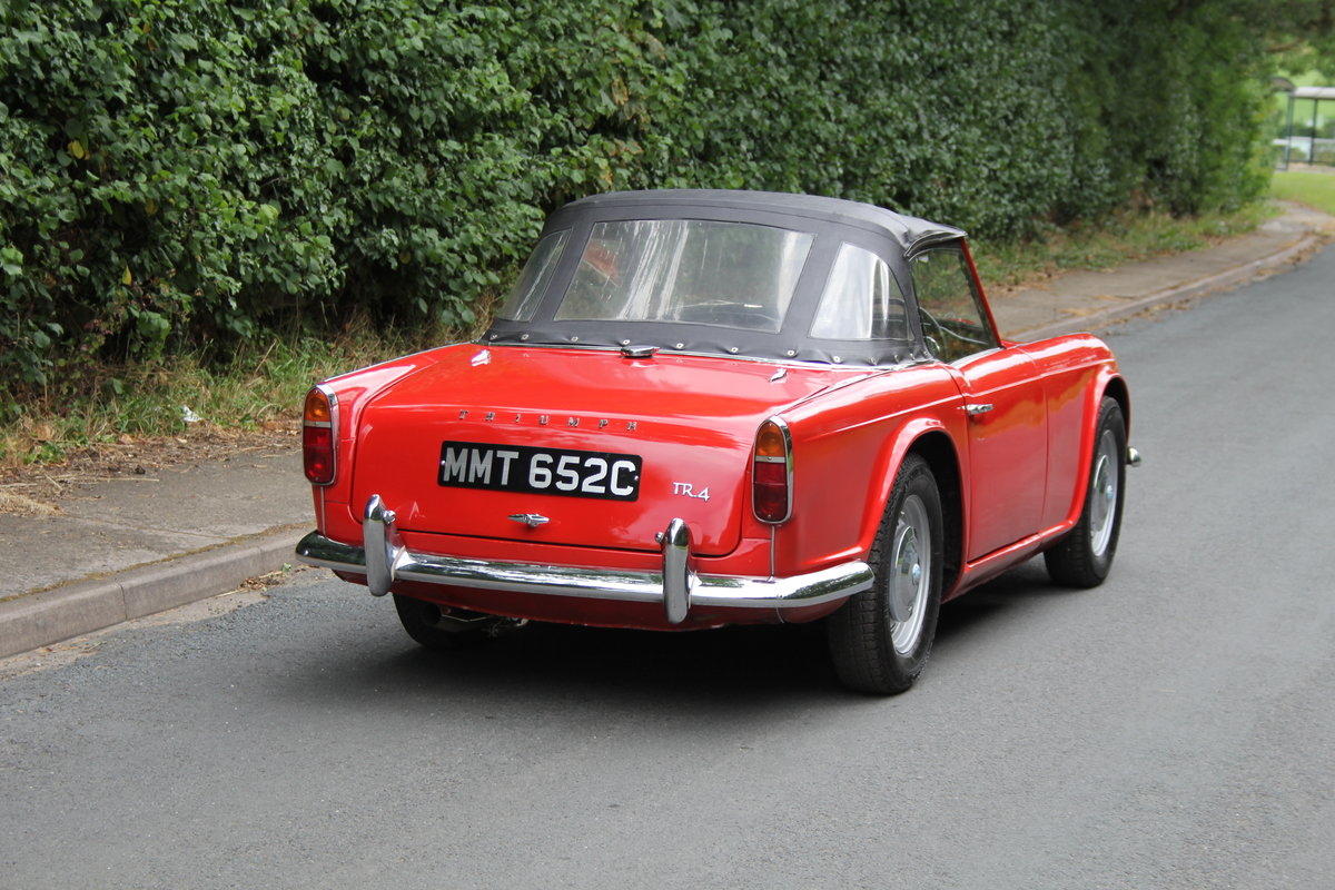1965 Triumph TR 4 - UK car, O/D, Performance engine  SOLD (picture 6 of 20)