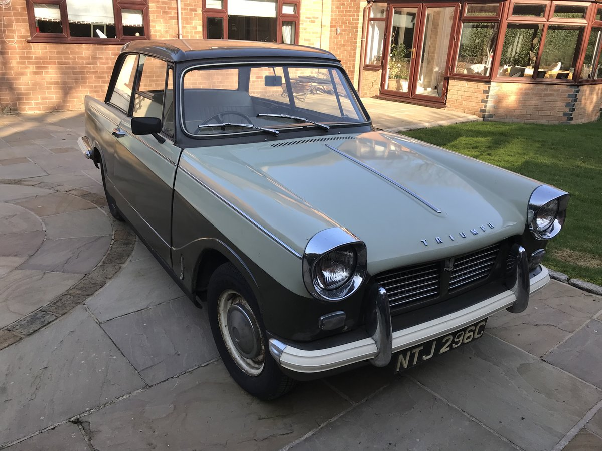 1965 Triumph Herald 1200. One Family Owner. For Sale (picture 1 of 6)