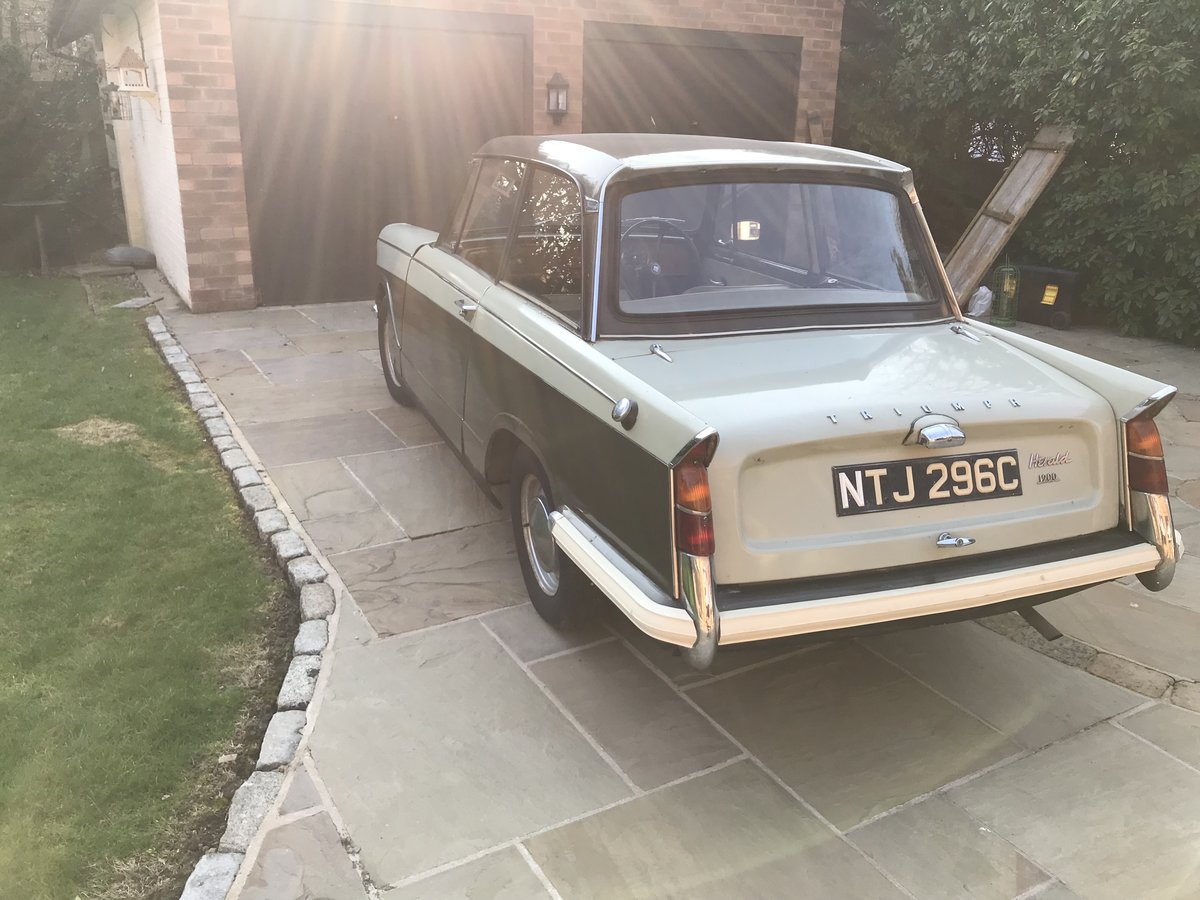 1965 Triumph Herald 1200. One Family Owner. For Sale (picture 4 of 6)