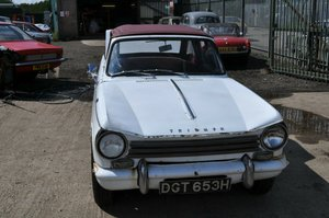 1963 1970 TRIUMPH HERALD CONVERTIBLE 13/60 CLASSIC CAR PROJECT
