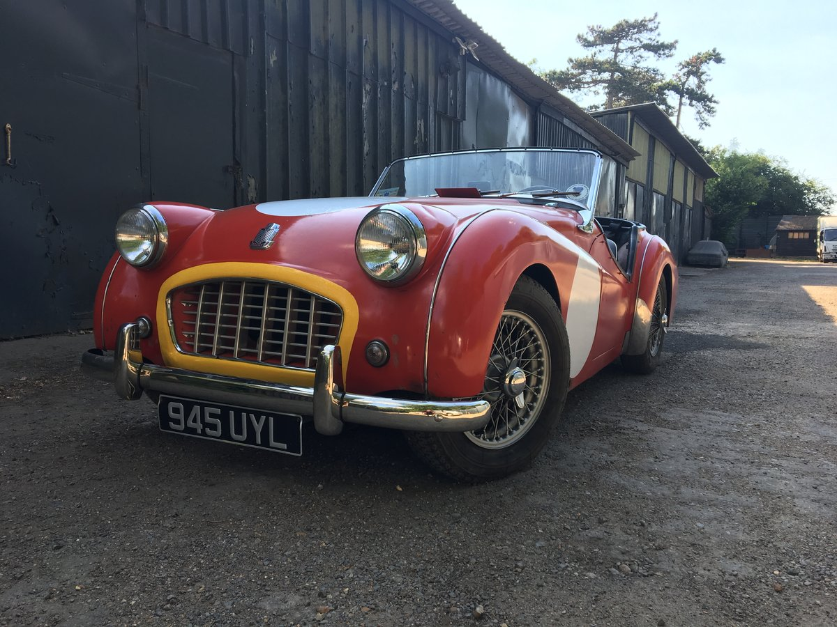 1956 Triumph TR3 (small mouth) For Sale (picture 1 of 6)