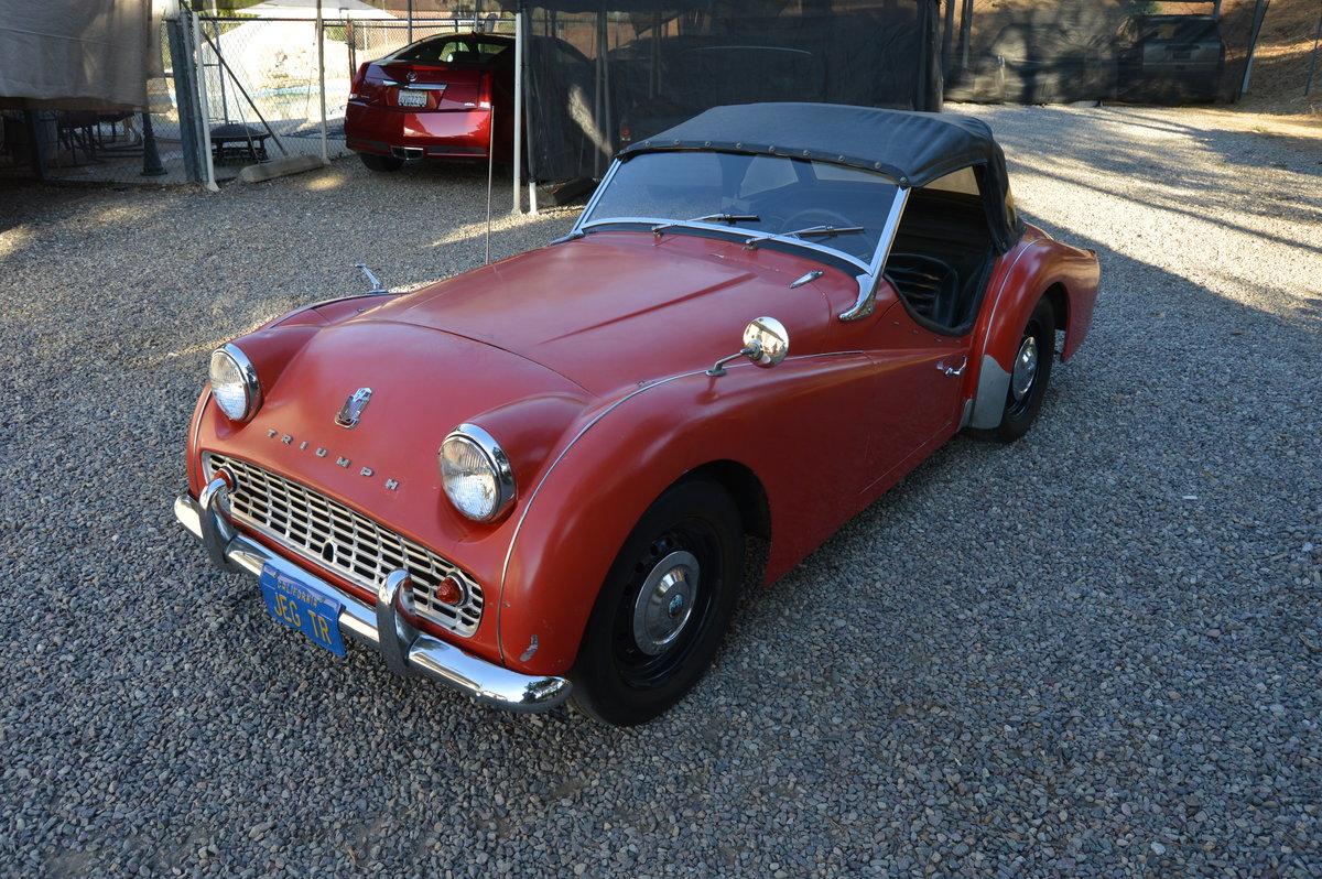 1960 Triumph TR3A SOLD (picture 1 of 1)