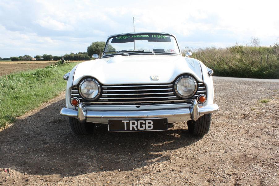 1968 TRIUMPH TR5 GENUINE UK RHD IN WHITE SOLD (picture 5 of 6)