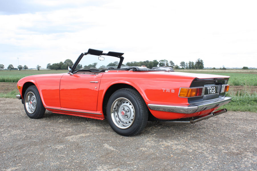1973 TRIUMPH TR6 ORIGINAL UK FUEL INJECTED RHD CAR WITH OVER For Sale (picture 5 of 6)