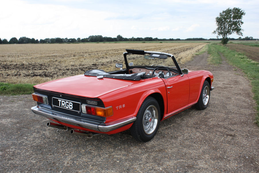 1973 TRIUMPH TR6 ORIGINAL UK FUEL INJECTED RHD CAR WITH OVER For Sale (picture 6 of 6)