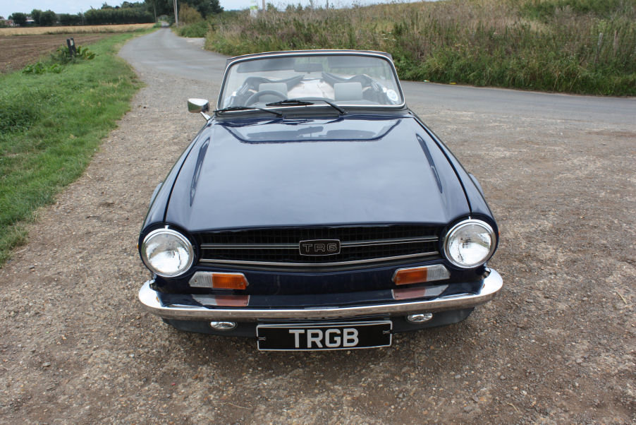 1974 TRIUMPH TR6 GENUINE UK RHD CAR WITH OVERDRIVE BLUE SOLD (picture 6 of 6)