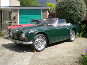 1966 Triumph TR4A IRS with overdrive.