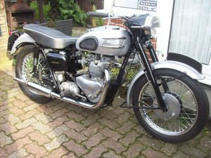 1958 Triumph T100 all alloy classic motorcycle For Sale