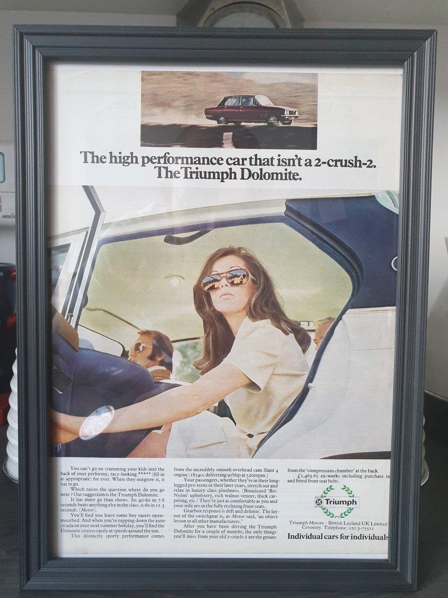 1973 Triumph Dolomite advert Original  For Sale (picture 1 of 2)