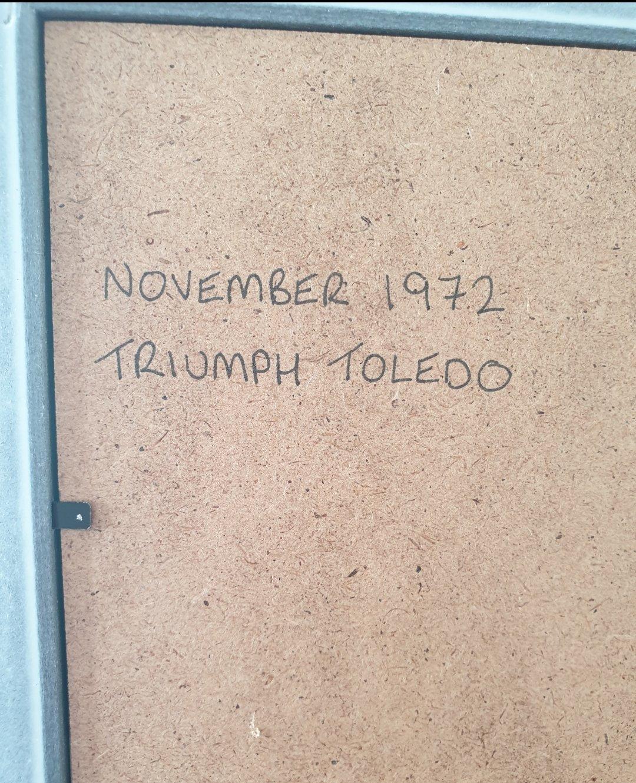 1972 Original Triumph Toledo advert For Sale (picture 2 of 2)