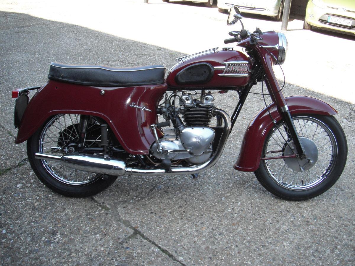 1963 Triumph Speed Twin  500 Bathtub  5TA SOLD (picture 1 of 6)