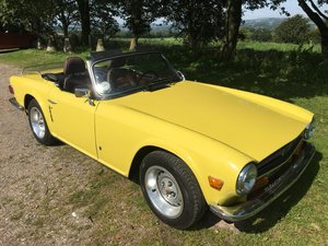 1973 Triumph TR6 LHD Mimosa Yellow For Sale
