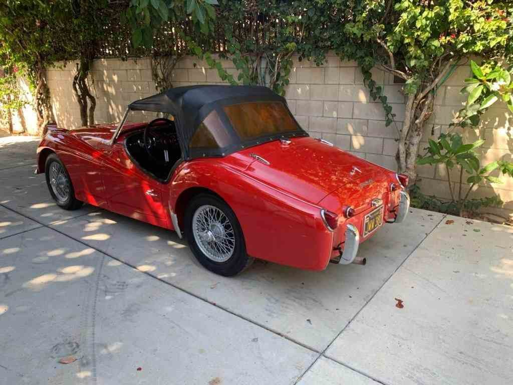 1959 Triumph TR3 Roadster Convertible low 50k miles $42.5k For Sale (picture 2 of 6)