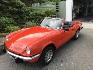 1981 Triumph Spitfire 1500. 63500 mls. Unmolested. SOLD