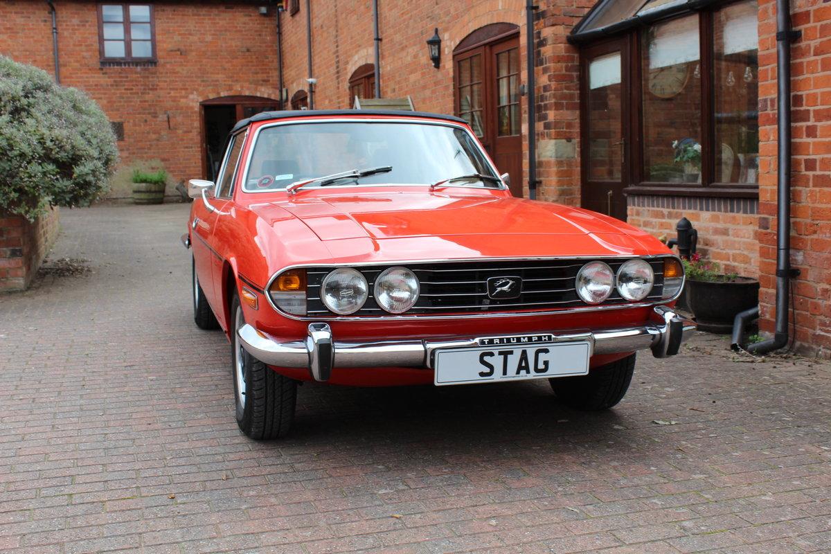 Triumph Stag Mk11 1973 Auto in Red. For Sale (picture 1 of 6)