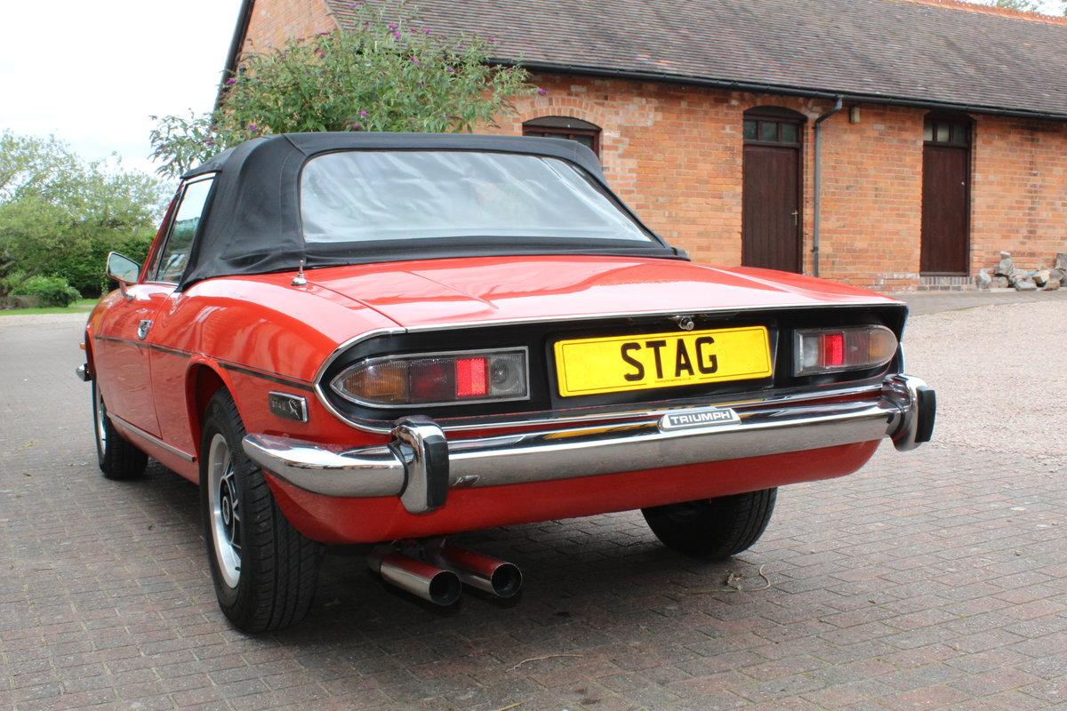Triumph Stag Mk11 1973 Auto in Red. For Sale (picture 2 of 6)