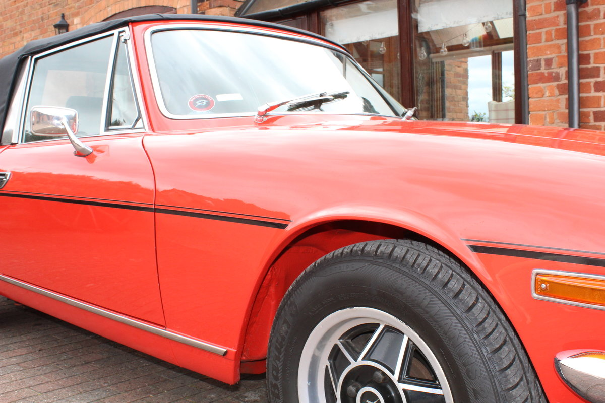 Triumph Stag Mk11 1973 Auto in Red. For Sale (picture 3 of 6)