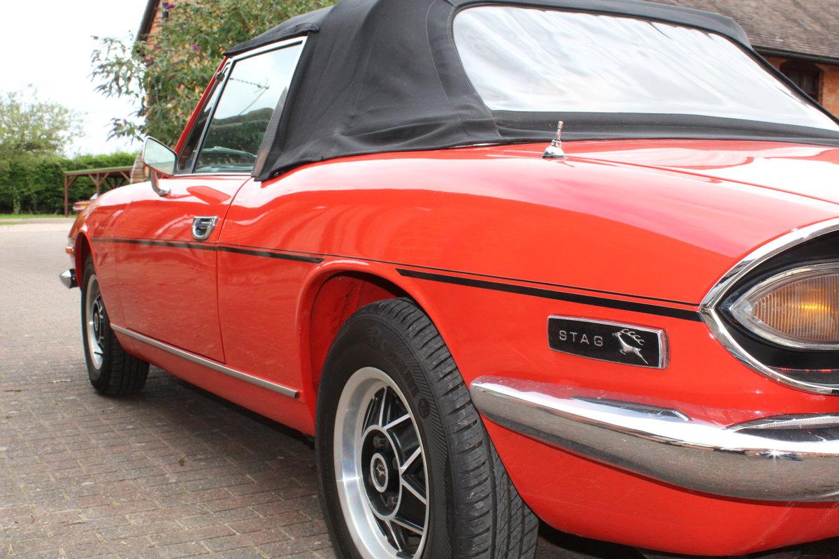 Triumph Stag Mk11 1973 Auto in Red. For Sale (picture 6 of 6)