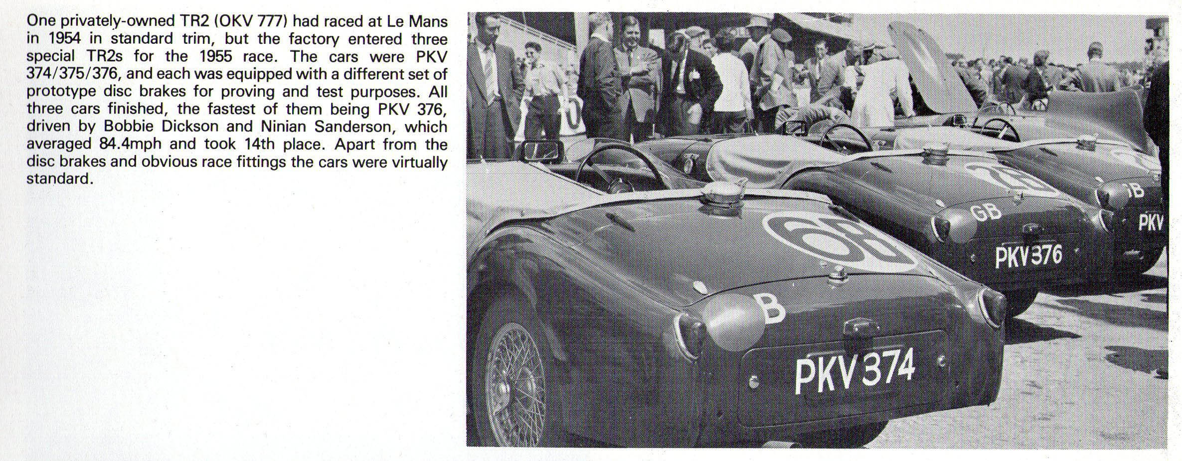 1955 Triumph TR2 Ex-Works Le Mans  For Sale (picture 2 of 6)