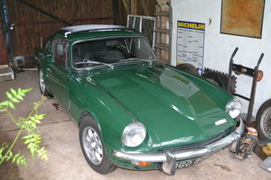 1970 Good GT6 dark green, black leather overdrive For Sale