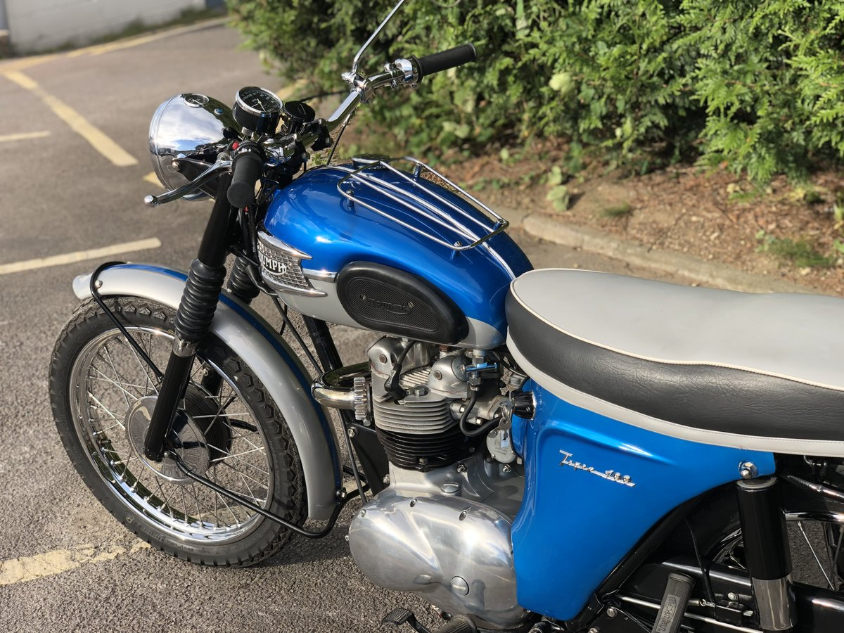Triumph T100SS 1962 500cc Restored Matching Numbers For Sale (picture 4 of 6)
